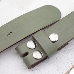 leather belts, 4 cm, 100 % Cow leather - Khaki