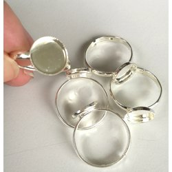 Ring setting for 10 mm  round Flatback Cabochon